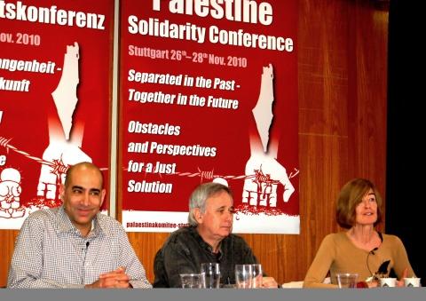 Ali Abunimah, Ilan Pappé und Sophia Deeg
