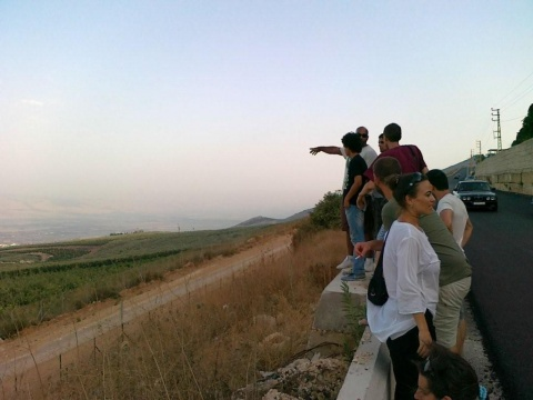 Sumud-Delegation, near occupied Palestine