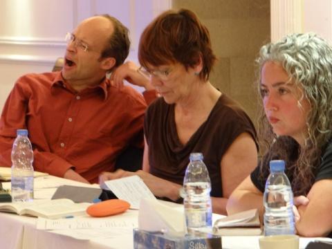 """Christiane Reymann (c), German journalist and member """"Die Linke"""""""