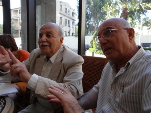 Ahmed Faez Fawaz (l), Selim Kheirbek, both former political prisoners