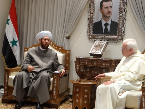 Grand mufti Ahmed Bedridden Hassoun and bishop Raul Vera, Mexico