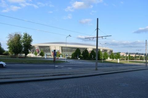 Verwaisten Stadion von Schachtar