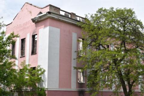 School destroyed by Ukrainian shelling
