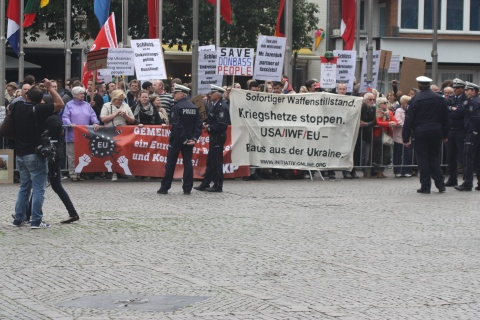 Aachen: protest against Jazenjuk's speech