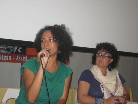 Amal Ramsis, Egyptian film director, with Angela Lana, Infopal