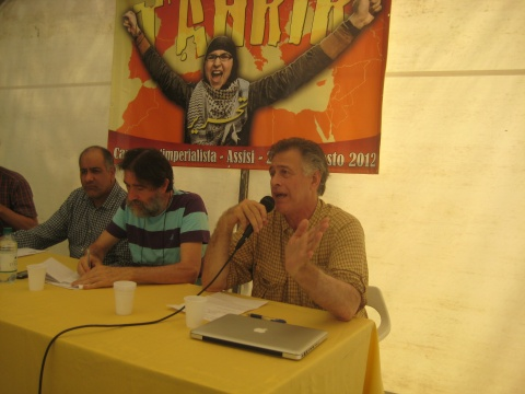 Paul Larudee (speaking), Massimo De Santi, Mohammad Reza Dehshiri