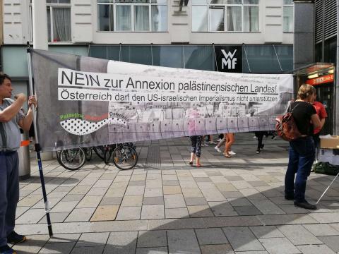 """Kundgebung """"Nein zu den völkerrechtswidrigen Annexionen palästinensischen Lands!"""""""