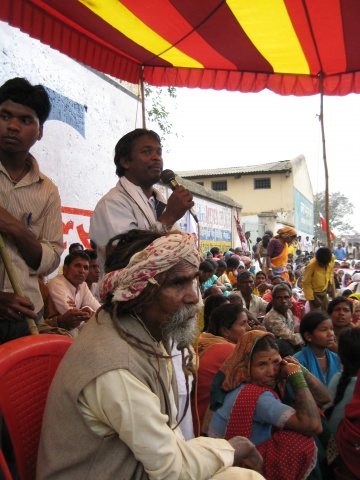 Tribal leader participating in the demonstration