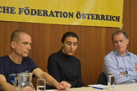 Eda (m), eine der Angeklagten: Solidarität mit dem Widerstand gegen Erdogan wird kriminalisiert