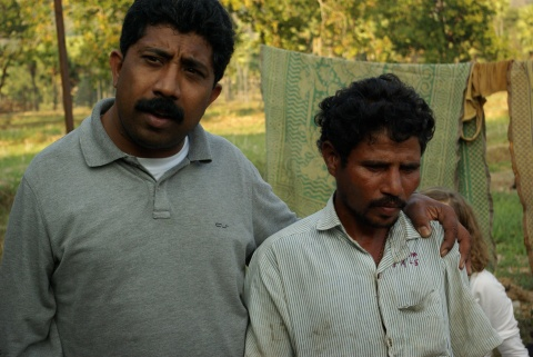 Lawyer Raghunath Verose with malaria-infected Sunam Chendi.