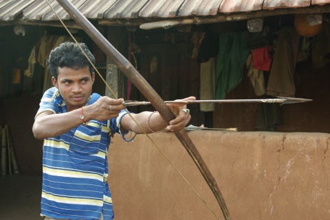 Rama Krishna of Posagudem village. Are you Hindu? No, I am Koja!