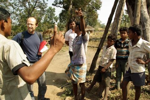 Village of displaced called Tippa Puram originating from inner Chhattisgarh.