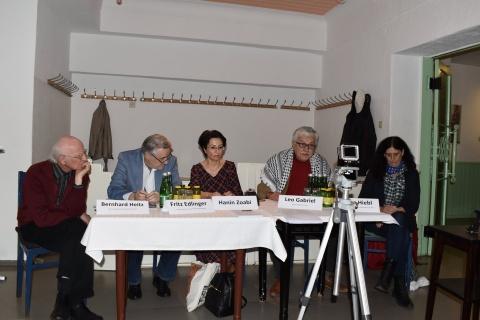 Pressekonferenz im Cafe Prückel