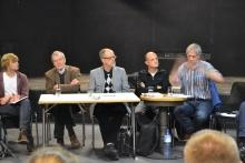 Lucas Zeise (2. von links), Albert Reiterer, Sascha Stanicic, Winfried Wolf (r)