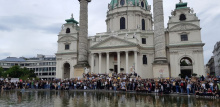 Blacklivesmatter in Wien am 4.6.20