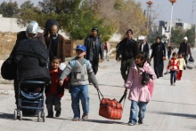 Starving residents leave govt-besieged Moadamiyeh. Truces remain short-lived.