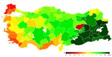 Abstimmungsergebnisse nach Provinzen