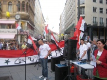 Rally against Assad in Vienna, Sept 4, 2011