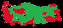 Referendum Präsidentialismus: grün - ja, rot - nein
