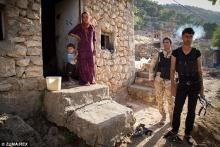 Jezidische Miliz in Lalesh, dem heiligsten Ort der Glaubensgemeinschaft