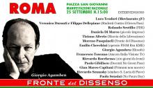 """Agamben als Redner bei der Demo der """"Front des Dissens"""" 25.9.21"""