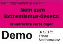 Meinungsfreiheit in Gefahr: Nein zum Extremismus-Gesetz!