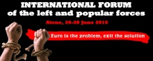 Athens International Forum against Euro