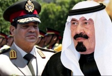 Coup general Sisi with his main backer Saudi king Abdallah